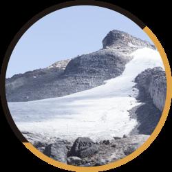 glaciares y cascadas